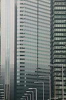 Japan Tokyo Shinjuku office building exteriors close-up