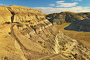 Castle Butte in the Big Muddy Badlands, Big Muddy Badlands, Saskatchewan, Canada