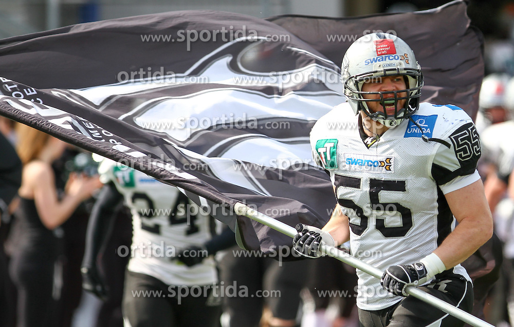 04.04.2015, Stadion Stadlau, Wien, AUT, AFL, Danube Dragons vs Swarco Raiders Tirol, im Bild Christoph Schilcher (Swarco Raiders Tirol) // during the Austrian Football League game between Danube Dragons and Swarco Raiders Tyrol at the Stadium Stadlau, Wien, Austria on 2015/04/04. EXPA Pictures © 2015, PhotoCredit: EXPA/ Alexander Forst
