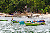 Fishing boats at harbor in the Gulf of Thailand, Koh Samet, Thailand