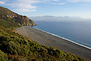 """Nonza with its enormous beach is said to be """"Corsica's most beautiful village""""."""