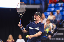 October 4, 2018 - St. Louis, Missouri, U.S - JIM COURIER during the Invest Series True Champions Classic on Thursday, October 4, 2018, held at The Chaifetz Arena in St. Louis, MO (Photo credit Richard Ulreich / ZUMA Press) (Credit Image: © Richard Ulreich/ZUMA Wire)