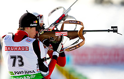 Tobias Eberhard of Austria during the Men 20 km Individual of the e.on IBU Biathlon World Cup on Thursday, December 16, 2010 in Pokljuka, Slovenia. The fourth e.on IBU World Cup stage is taking place in Rudno Polje - Pokljuka, Slovenia until Sunday December 19, 2010.  (Photo By Vid Ponikvar / Sportida.com)