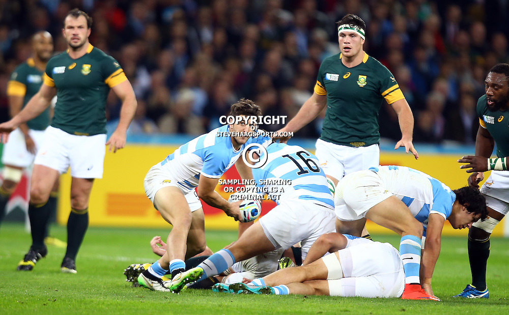 LONDON, ENGLAND - OCTOBER 30: Will Genia of Australia during the Rugby World Cup 3rd Place Playoff match between South Africa and Argentina at Olympic Stadium on October 30, 2015 in London, England. (Photo by Steve Haag/Gallo Images)