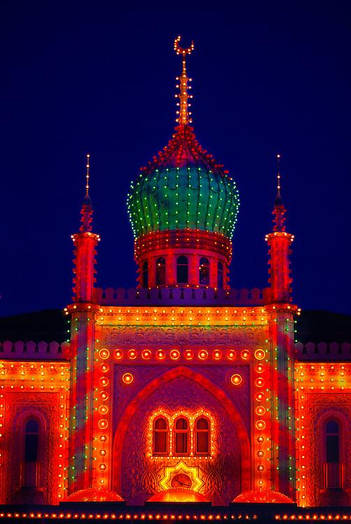 Moorish Palace with onion dome, Tivoli Gardens (Tivoli Amusement Park), Copenhagen, Denmark