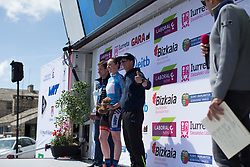 Katie Archibald (GBR) of Team WNT stays in the best sprinter's blue jersey after Stage 4 the Emakumeen Bira - a 58 km road race, between Etxarri Aranatz and San Miguel on May 20, 2017, in Basque Country, Spain. (Photo by Balint Hamvas/Velofocus)