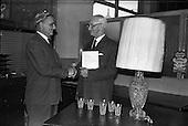 1963 - Retirement presentation at Pirie-Armstrong, Moss Street, Dublin