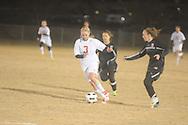 Lafayette High's Ally Houghton (3) vs. Horn Lake in girls high school soccer in Oxford, Miss. on Tuesday, November 27, 2012.