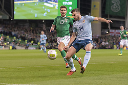 November 15, 2018 - Dublin, Ireland - Stuart Dallas of N.Ireland with the ball and Jeff Hendrick of N.Ireland during the International Friendly match between Republic of Ireland and Northern Ireland at Aviva Stadium in Dublin, Ireland on November 15, 2018  (Credit Image: © Andrew Surma/NurPhoto via ZUMA Press)