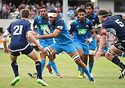 Hoani Matenga during a pre season Super Rugby match. Blues v Storm, Pakuranga Rugby Club, Auckland, New Zealand. Thursday 4 February 2016. Copyright Photo: Andrew Cornaga / www.Photosport.nz