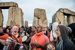 © Licensed to London News Pictures. 20/06/2016. STONEHENGE, WILTSHIRE, UK. Sunrise at Summer solstice at the ancient stone circle at Stonehenge World Heritage site in Wiltshire..  Photo credit: MARK HEMSWORTH/LNP