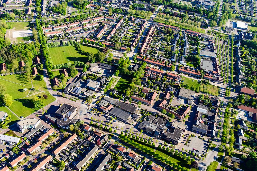 Nederland, Noord-Holland, Hollands Kroon, 07-05-2018; Slootdorp, dorp in de Wieringermeer gelegen aan de A7.<br /> Polder village, Wieringermeer polder.<br /> luchtfoto (toeslag op standaard tarieven);<br /> aerial photo (additional fee required);<br /> copyright foto/photo Siebe Swart