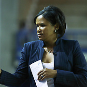 Chicago Sky Head Coach Pokey Chatman seen in near the sidelines in the first period of a WNBA preseason basketball game between the Chicago Sky and the New York Liberty Friday, May. 22, 2015 at The Bob Carpenter Sports Convocation Center in Newark, DEL