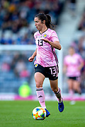 Jane Ross (#13) of Scotland on the ball during the International Friendly match between Scotland Women and Jamaica Women at Hampden Park, Glasgow, United Kingdom on 28 May 2019.