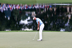 August 11, 2017 - Charlotte, North Carolina, United States - Ian Poulter putts the 17th green during the second round of the 99th PGA Championship at Quail Hollow Club. (Credit Image: © Debby Wong via ZUMA Wire)
