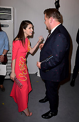 Anna Kendrick and James Corden (right) in the press room at the Glamour Women of the Year Awards 2017, Berkeley Square Gardens, London.