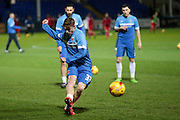 Luke James (Hartlepool United) before the Sky Bet League 2 match between Hartlepool United and Stevenage at Victoria Park, Hartlepool, England on 9 February 2016. Photo by Mark P Doherty.