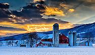 Belleville Winter Sunset