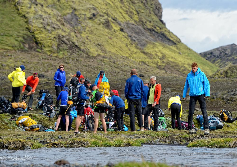 09-07-2014 ISL: Iceland Diabetes Challenge Dag 5, Emstrur<br /> Van Alftavatn naar Emstrur / groep, Bas van de Goor