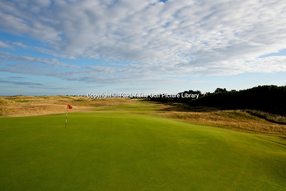 10th par 5 Royal Liverpool Golf Club, Hoylake,Wirral,England, during summer 2013,venue for the 2014 Open Championship.