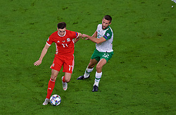 CARDIFF, WALES - Thursday, September 6, 2018: Wales' Tom Lawrence during the UEFA Nations League Group Stage League B Group 4 match between Wales and Republic of Ireland at the Cardiff City Stadium. (Pic by Laura Malkin/Propaganda)