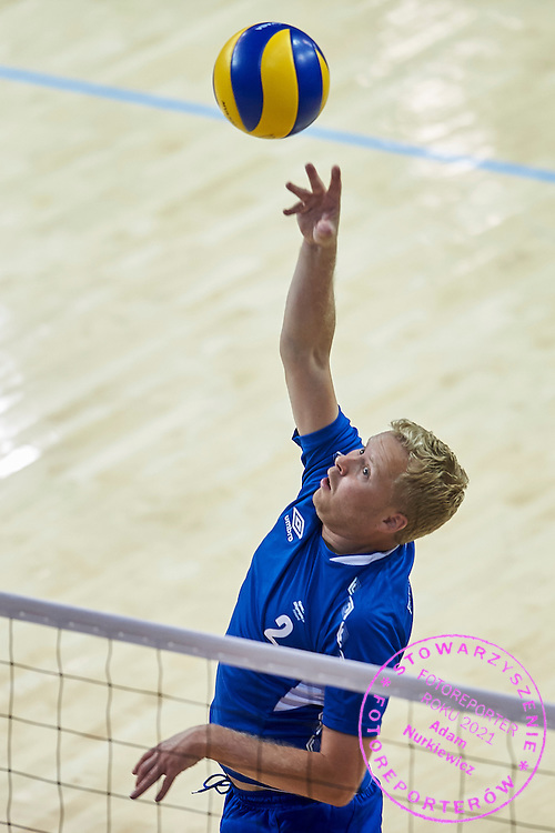 SO Finland athlete in action while Unified Volleyball match between SO Finland and SO  Czech Republic during sixth day of the Special Olympics World Games Los Angeles 2015 on July 30, 2015 at Pauley Pavilion at UCLA (University of California Los Angeles) in Los Angeles, USA.<br /> <br /> USA, Los Angeles, July 30, 2015<br /> <br /> Picture also available in RAW (NEF) or TIFF format on special request.<br /> <br /> For editorial use only. Any commercial or promotional use requires permission.<br /> <br /> Adam Nurkiewicz declares that he has no rights to the image of people at the photographs of his authorship.<br /> <br /> Mandatory credit:<br /> Photo by &copy; Adam Nurkiewicz / Mediasport
