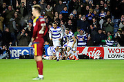 Queens Park Rangers midfielder Pawel Wszolek (15) celebrating scoring 2-1 during the EFL Sky Bet Championship match between Queens Park Rangers and Ipswich Town at the Loftus Road Stadium, London, England on 2 January 2017. Photo by Matthew Redman.