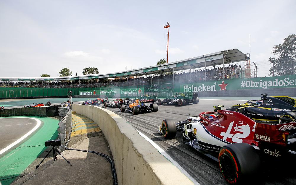 November 17, 2019, Sao Paulo, Brazil: Motorsports: FIA Formula One World Championship 2019, Grand Prix of Brazil, .#99 Antonio Giovinazzi (ITA, Alfa Romeo Racing) (Credit Image: © Hoch Zwei via ZUMA Wire)