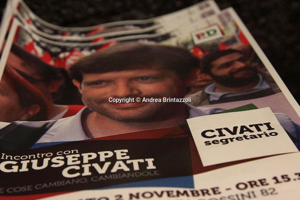 """Pesaro 02 Novembre 2013 Cinema Astra """"Le cose cambiano, cambiandole""""  Giuseppe Civati candidato alla segreteria del Partito Democratico"""