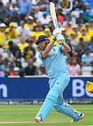 Jonny Bairstow of England batting during the ICC Cricket World Cup 2019 semi final match between Australia and England at Edgbaston, Birmingham, United Kingdom on 11 July 2019.