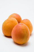 Cutout of a Peach on white background