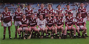 All Ireland Senior Hurling Championship - Final, .12.09.1999, 09.12.1999, 12th September 1999,.12091999AISHCF,.Senior Kilkenny v Cork,.Minor Galway v Tipperary, .Cork 0-13, Kilkenny 0-12,..Galway Minor Team, back row from left, Brian O'Mahony, Damien Hayes, Richard Murray, Conoe Dervan, Hugh Whirlskey, Fergal Moore, Michael john Quinn, Michael Coughlan, .Front row from left, Kevin Brady, David Forde, Johnny O'Loughlin, Ronan Reilly, John Culkin, Shane Tierney, Cathal Coen, .Irish Nationwide,