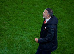 CARDIFF, WALES - Sunday, October 13, 2019: Wales' manager Ryan Giggs reacts during the UEFA Euro 2020 Qualifying Group E match between Wales and Croatia at the Cardiff City Stadium. (Pic by Paul Greenwood/Propaganda)