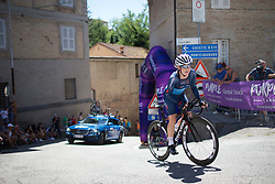 Linda Villumsen (NZL) of Veloconcept Cycling Team rides near the top of the final climb of Stage 5 of the Giro Rosa - a 12.7 km individual time trial, starting and finishing in Sant'Elpido A Mare on July 4, 2017, in Fermo, Italy. (Photo by Balint Hamvas/Velofocus.com)