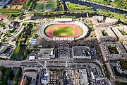 Nederland, Noord-Holland, Amsterdam, 27-09-2015; Amsterdam-Zuid, Amstelveenseweg, Stadionplein en Amsterdam Olympisch Stadion.<br /> Amsterdam (Old) South neighbourhood, Amsterdam Olympic Stadium.<br /> <br /> luchtfoto (toeslag op standard tarieven);<br /> aerial photo (additional fee required);<br /> copyright foto/photo Siebe Swart