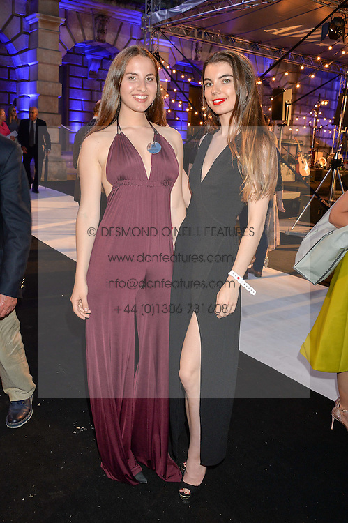 Left to right, sisters ALICE GRUNDON and EVA GRUNDON at the Royal Academy of Arts Summer Exhibition Preview Party at The Royal Academy of Arts, Burlington House, Piccadilly, London on 7th June 2016.
