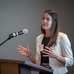 Margaret Cron, Ikove Capital at the 2017 Ohio Collegiate Showcase team presentations for ICORPS@Ohio Friday October 20th, 2017. (Christina Paolucci, photographer)