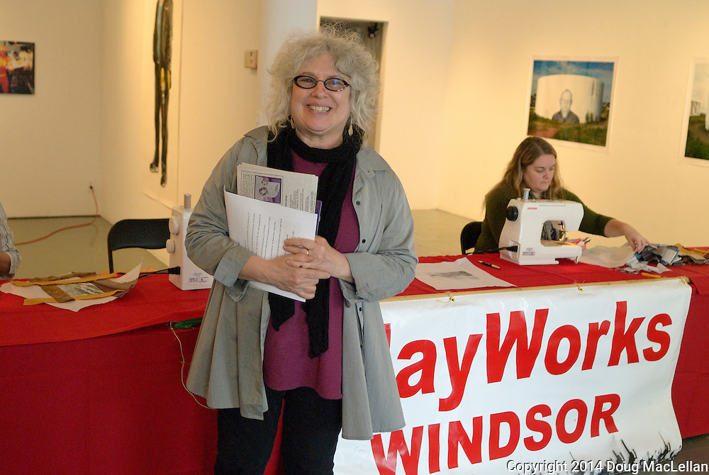 Susan Gold Smith has the task of conducting the Maywors Windsor 2014 press conference at Artcite Inc.
