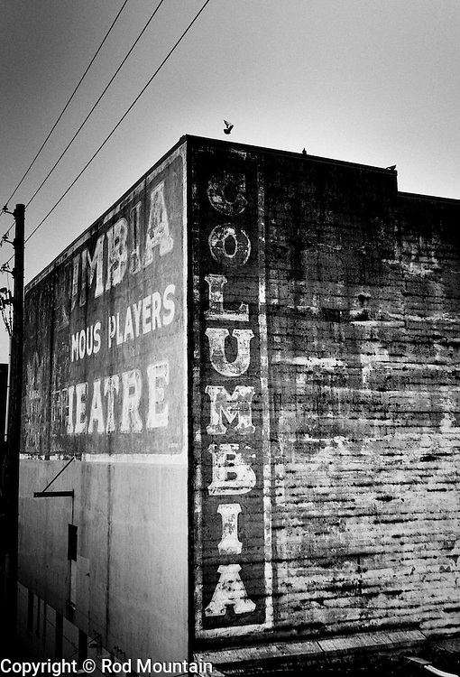 The weather worn signage the Columbia Theatre in New Westminster, BC. Originally built in 1927. <br /> Photo: &copy; Rod Mountain<br /> <br /> @rod_mountain<br /> https://twitter.com/rod_mountain<br /> <br /> http://www.rodmountain.com/archive