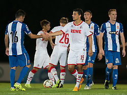 22.07.2015, Grenzland Stadion, Kufstein, AUT, Testspiel, 1. FC Köln vs RCD Espanyol Barcelona, im Bild v.l. Juan Rafael Fuentes (Espanyol Barcelona), Philipp Hosiner (1. FC Koeln) // during the International Friendly Football Match between 1. FC Cologne and RCD Espanyol Barcelona at the Grenzland Stadion in Kufstein, Austria on 2015/07/22. EXPA Pictures © 2015, PhotoCredit: EXPA/ Johann Groder