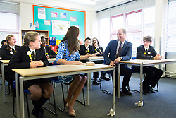 The Duke & Duchess of Cambridge visit The Stewards Academy Harlow to promote their ' Heads Together ' campaign for the Royal Foundation. Photo: David Poultney