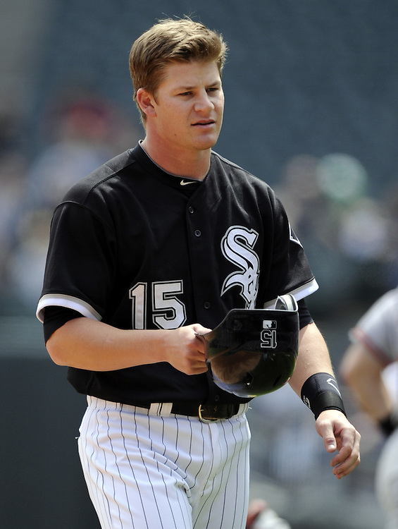 CHICAGO - MAY 01:  Gordon Beckham #15 of the Chicago White Sox looks on against the Baltimore Orioles on May 1, 2011 at U.S. Cellular Field in Chicago, Illinois.  The Orioles defeated the White Sox 6-4.  (Photo by Ron Vesely)  Subject:   Gordon Beckham.