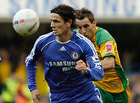 Photo: Leigh Quinnell.<br /> Chelsea v Norwich City. The FA Cup. 17/02/2007.<br /> Norwichs' Darren Huckerby chases Chelseas Khalid Boulahrouz.