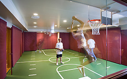 Indoor private basketball court