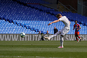 Mateusz Bogusz of Leeds United U23 shoots during the U23 Professional Development League match between U23 Crystal Palace and Leeds United at Selhurst Park, London, England on 15 April 2019.