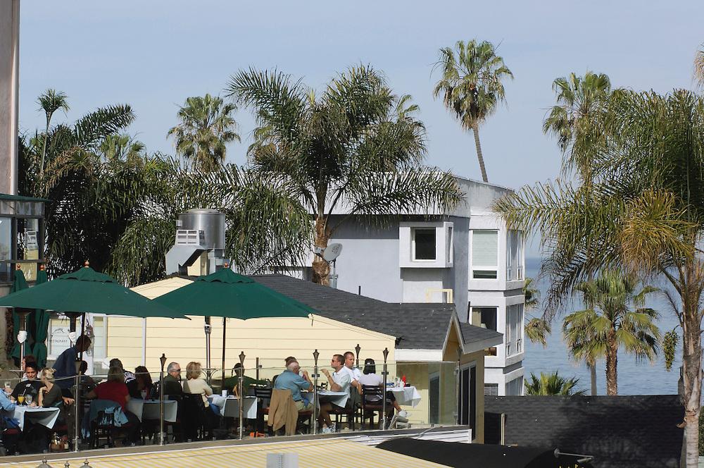 Outdoor seating, Restaurant, La Jolla, San Diego, California, United States of America