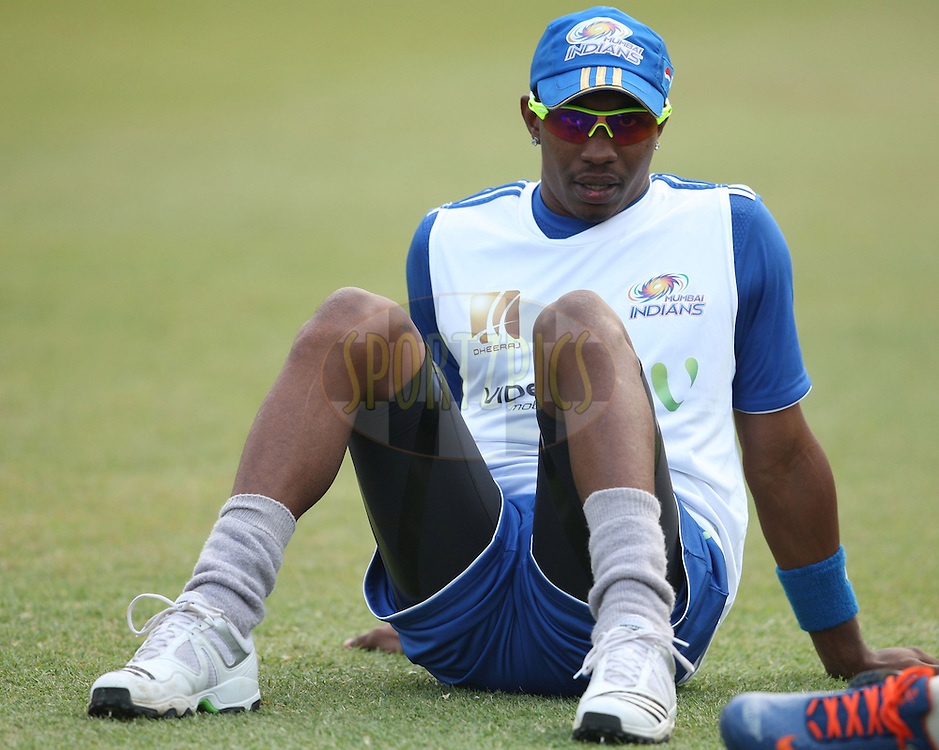 Dwayne Bravo during match 15 of the Airtel CLT20 between The Mumbai Indians and the Royal Challengers Bangalore held at Kingsmead Stadium in Durban on the 19 September 2010..Photo by: Steve Haag/SPORTZPICS/CLT20.