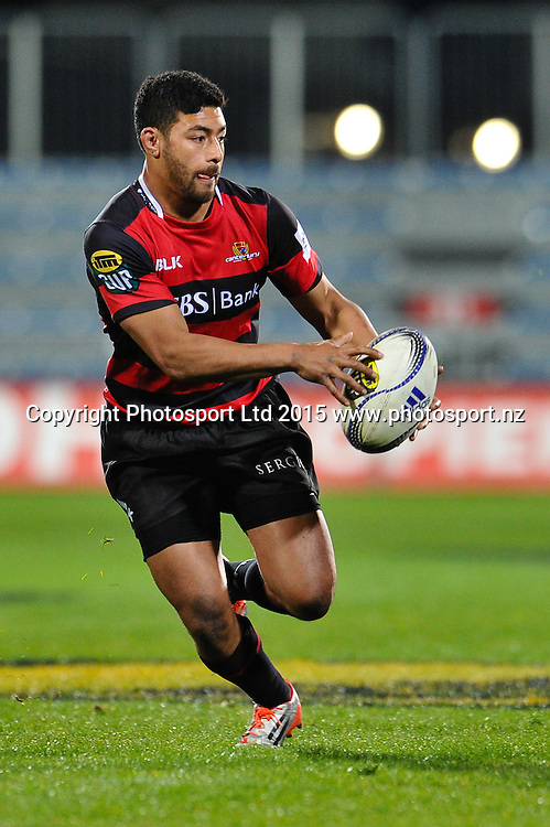 Richie Mo�unga of Canterbury during the ITM Cup rugby match, Canterbury v Hawke's Bay, at AMI Stadium, Christchurch, on the 12th September 2015. Copyright Photo: John Davidson / www.photosport.nz
