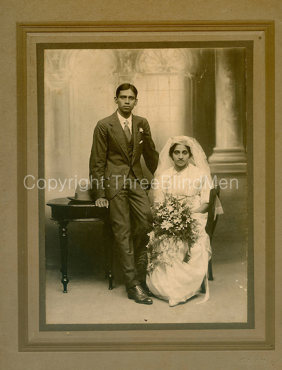 "Bala Tampoe. Writing on back reads ""To Francis and Beatrice with Best Wishes Yogi and Elni (?) Octo 1920"""