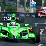 Danica Patrick #7 coming out of turn number 8 at the inaugural Baltimore Grand Prix Sunday Sept. 4, 2011 in Baltimore Maryland.